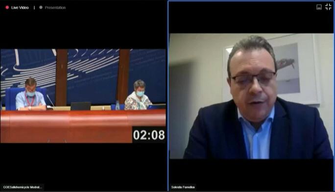 """Σ. Φάμελλος στο Συμβούλιο της Ευρώπης: """"Κοινοί δρόμοι για τη συνεργασία στα Βαλκάνια"""""""